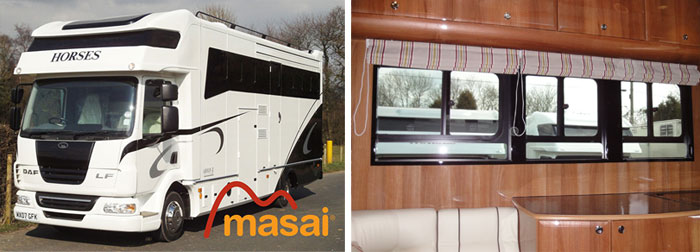 horsebox bonded windows